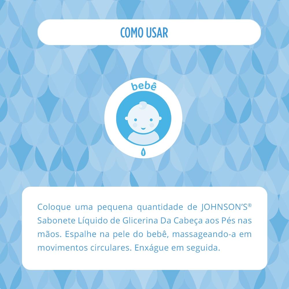 Sabonete Líquido de Glicerina JOHNSON'S Baby Da Cabeça aos Pés 200 ml