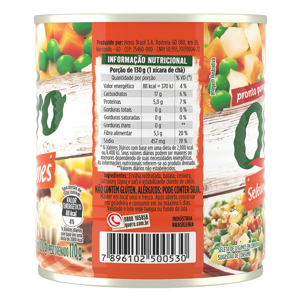 Seleta De Legumes Quero Lata 170g