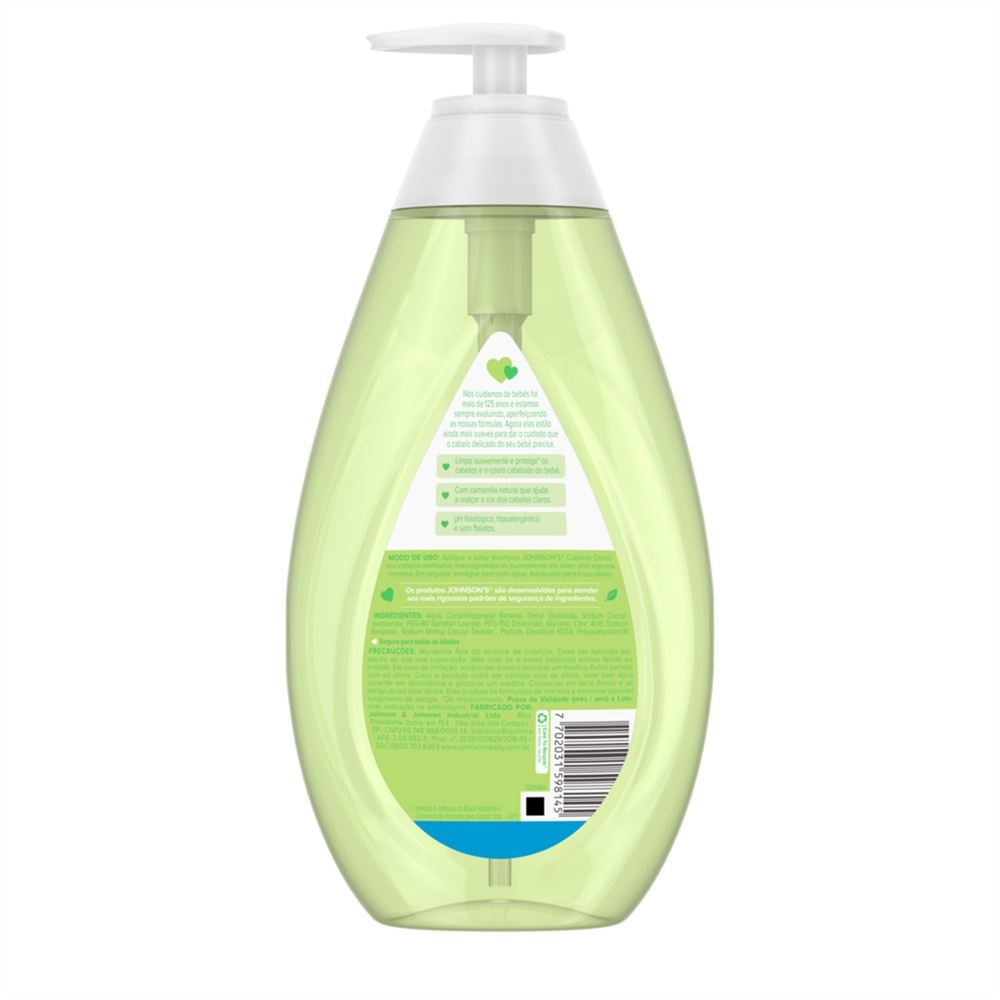 Shampoo JOHNSON'S Baby Cabelos Claros 750ml