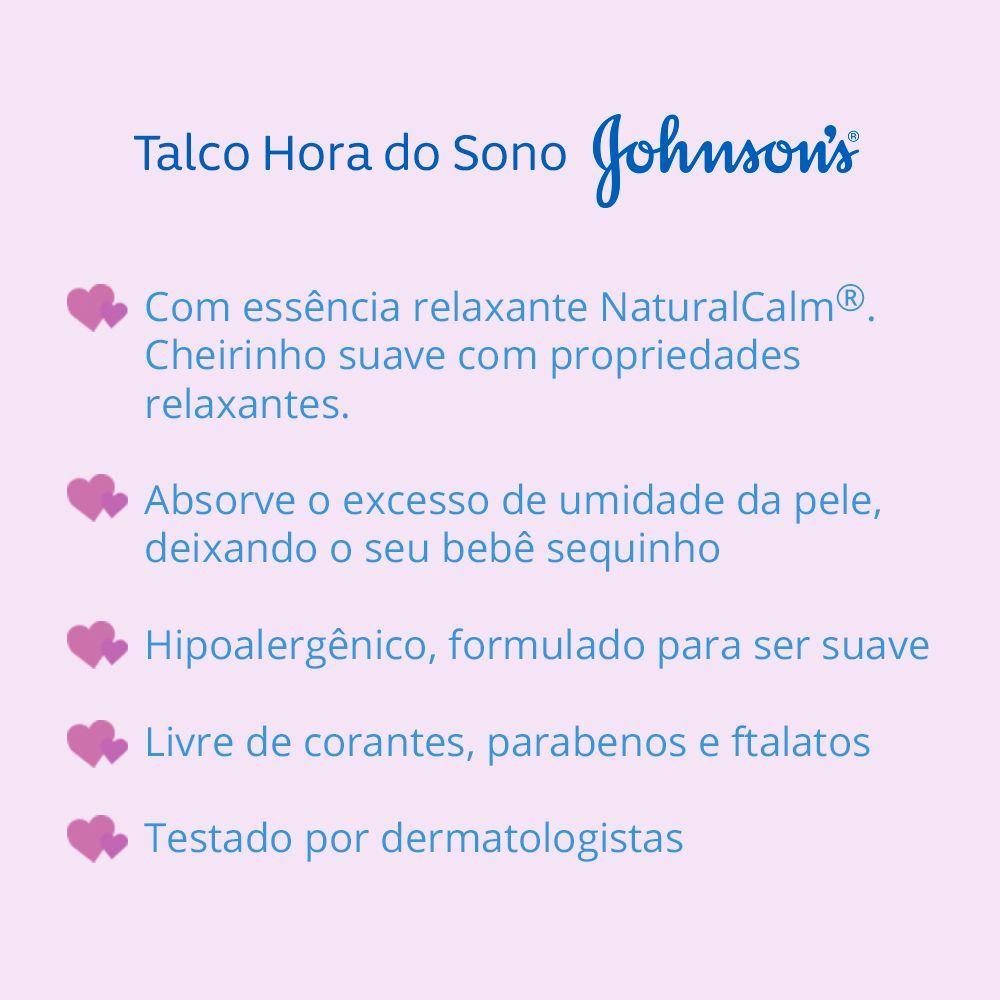 Talco JOHNSON'S Baby Hora do Sono 200 g