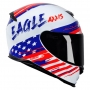 Capacete Axxis Eagle Independence Gloss - Branco