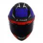 Capacete LS2 FF353 Rapid Cromo Matte - Vermelho/Azul