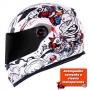 Capacete LS2 FF358 Crazy Clown - Branco