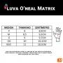 Luva O'Neal Matrix Attack - Preta/Amarela