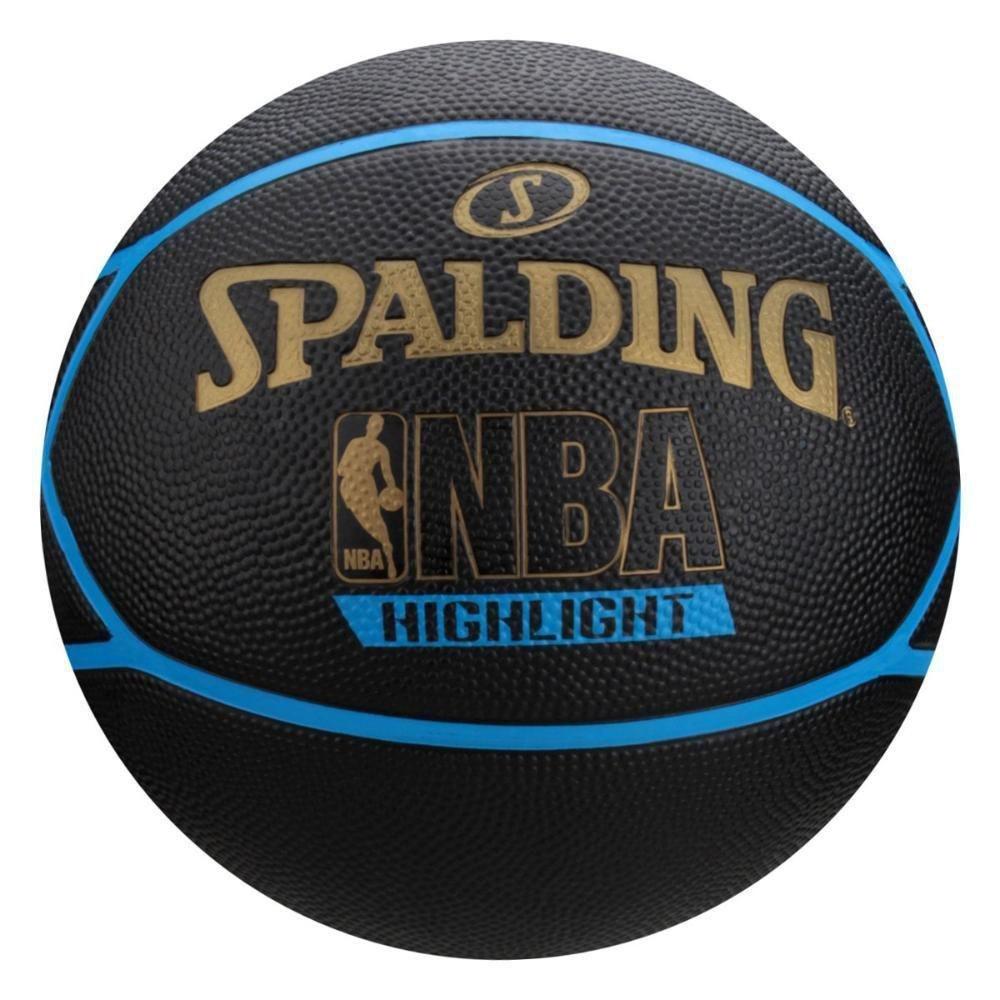Bola De Basquete Spalding Highlight Azul - Borracha - Outdoor