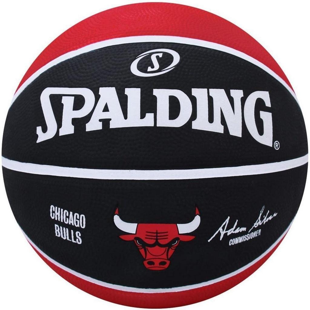 Bola De Basquete Spalding NBA Chicago Bulls Vermelha - Borracha - Outdoor