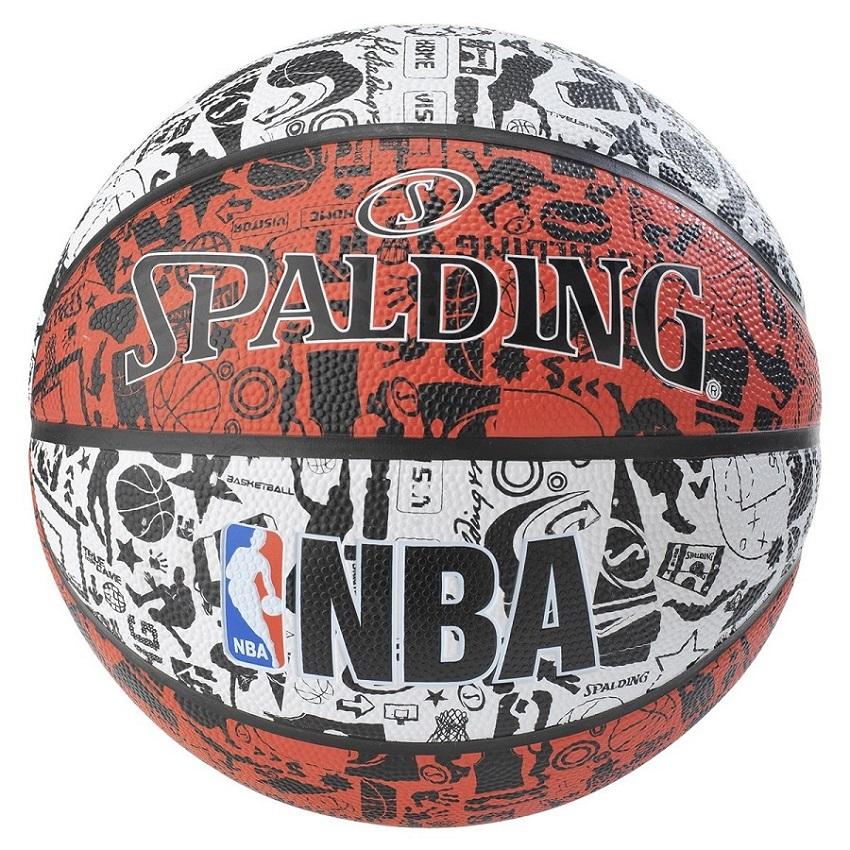 Bola De Basquete Spalding NBA Graffiti Vermelha - Borracha - Outdoor