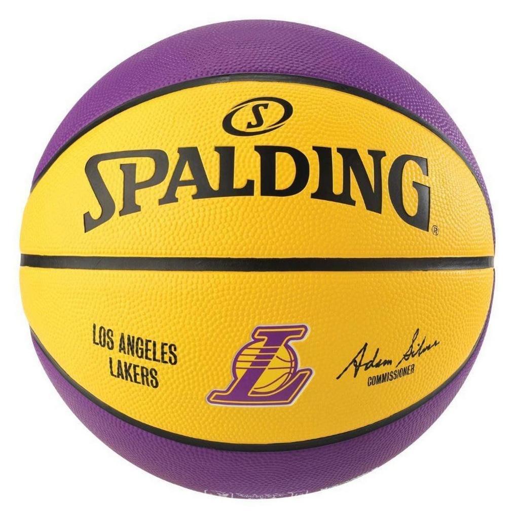 Bola De Basquete Spalding NBA Lakers Amarela - Borracha - Outdoor