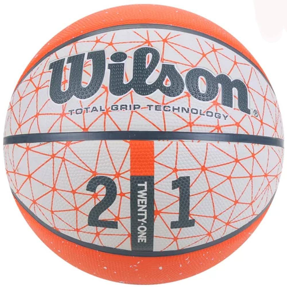 Bola de Basquete Wilson 21 Series Laranja - Outdoor - Tamanho 7