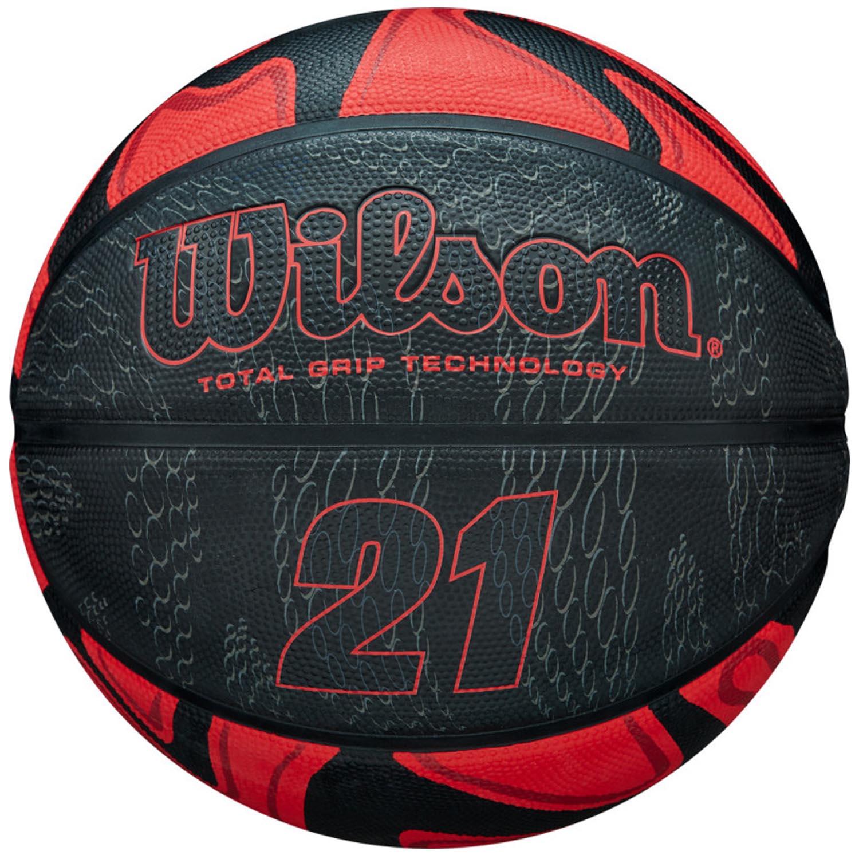 Bola de Basquete Wilson 21 Series Vermelha - Outdoor - Tamanho 7