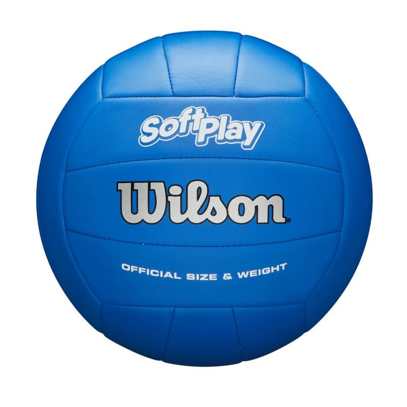 Bola de Vôlei Wilson Soft Play Colorida - Azul