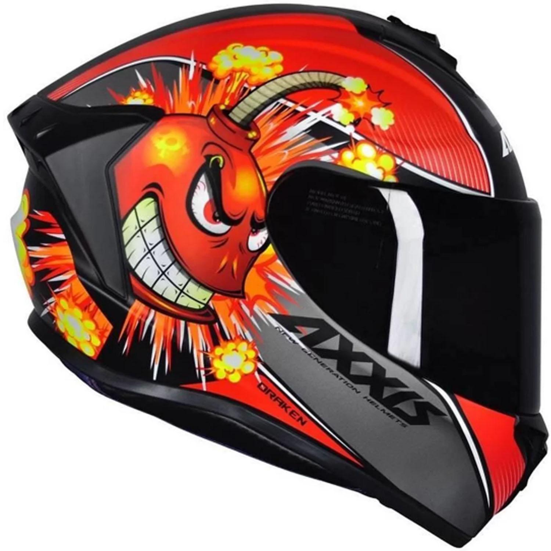 Capacete Axxis Draken Bomb Matte - Vermelho