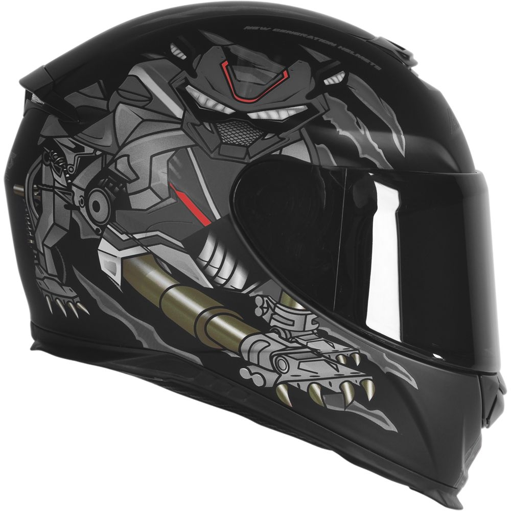 Capacete Axxis Eagle Animals Matte - Cinza