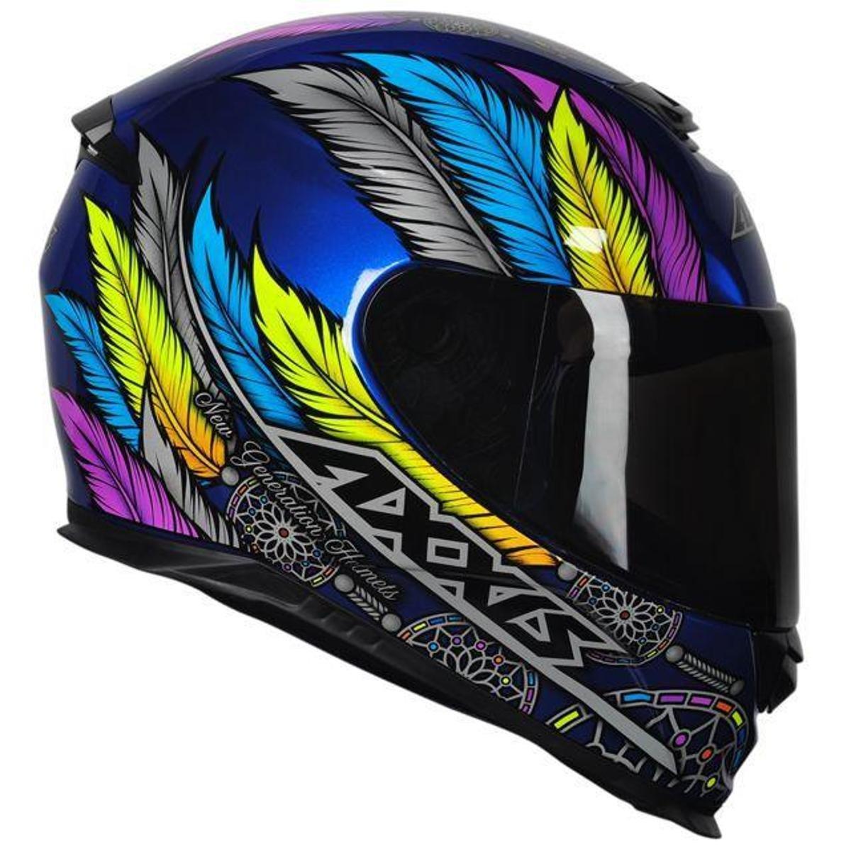 Capacete Axxis Eagle Dreams Gloss - Azul