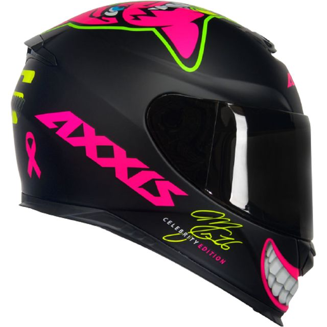 Capacete Axxis Eagle Marianny Celebrity Edition MG16 M B - Preto