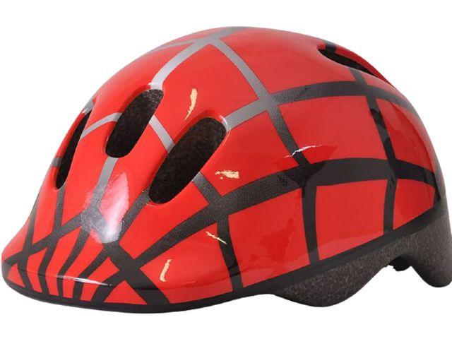 Capacete Bike Poker Out Mold Infantil - Vermelho