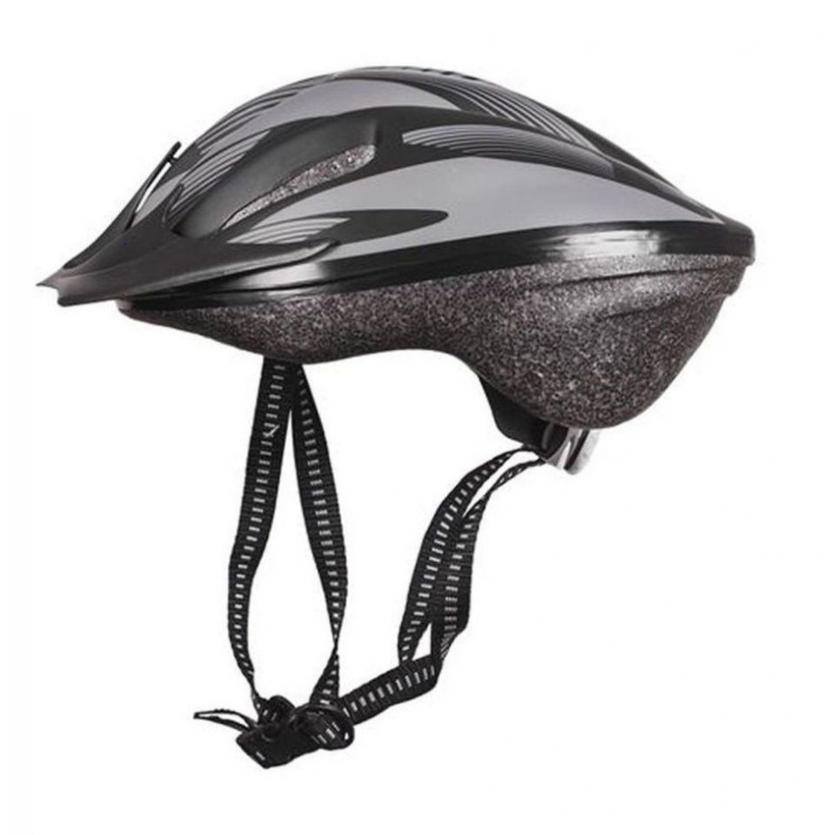 Capacete Bike Poker Out Mold Windstorm C/ Led - Cinza