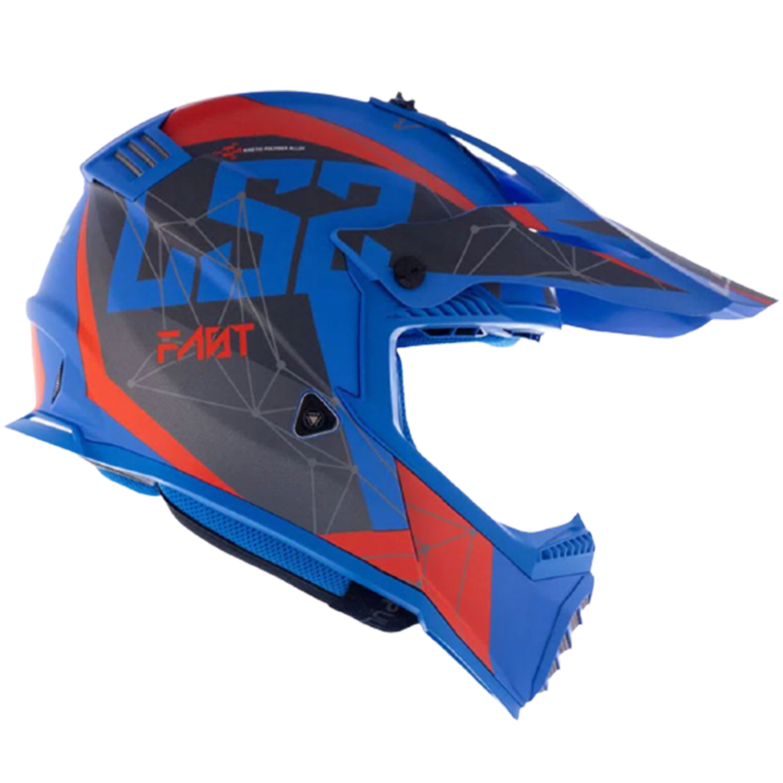 Capacete LS2 Fast MX437 Alpha Matte - Azul