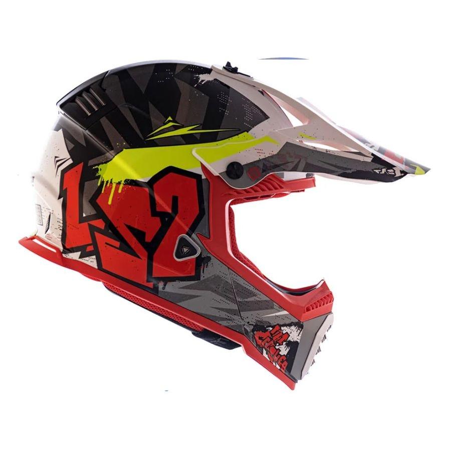 Capacete LS2 Fast MX437 Crusher - Vermelho