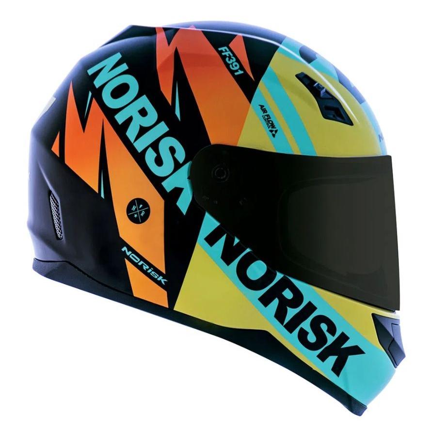 Capacete Norisk FF391 Stunt Furious - Amarelo