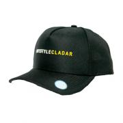 Boné Snapback Baseball Preto - LifeStyle Cladar Amarelo