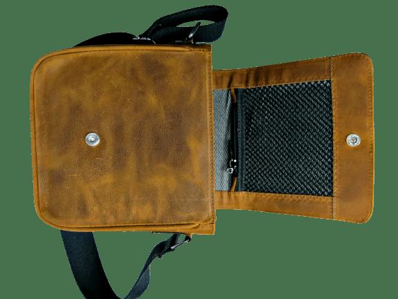 Bolsa Shoulder em Couro Legítimo Caramelo - Caveira Cladar