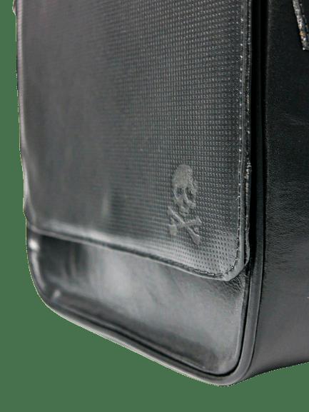 Bolsa Shoulder em Couro Legítimo Preta - Caveira Cladar