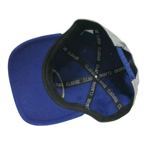 Boné Snapback Baseball CLDR - Cinza com Aba Azul Marinho