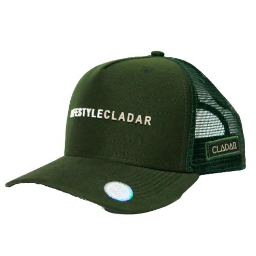 Boné Trucker Verde Militar - LifeStyle Cladar Branco