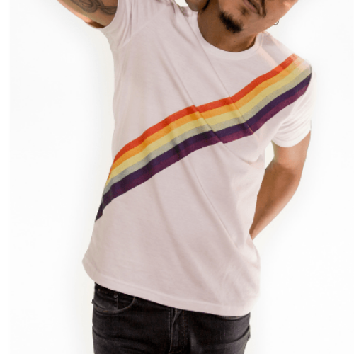 Camiseta Estampada Branca Cladar - Arco Íris LGBTQIA+