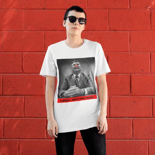 Camiseta Estampada Feminina Branca Cladar - Bozo
