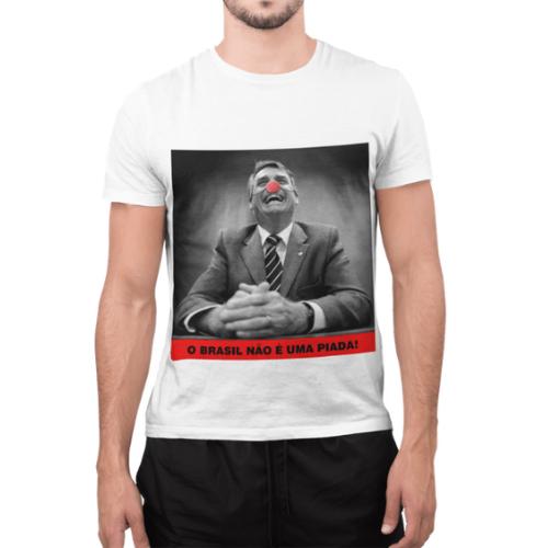 Camiseta Estampada Masculina Branca Cladar - Bozo