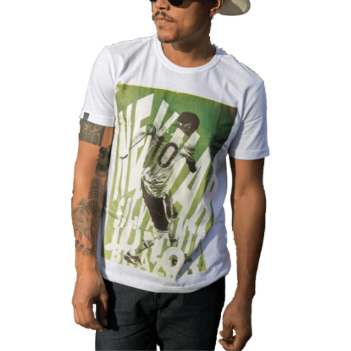 Camiseta Estampada Masculina Branca Cladar - Neymar Jr