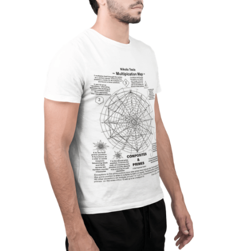 Camiseta Estampada Masculina Branca Cladar - Nikola Tesla