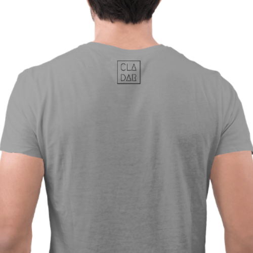 Camiseta Estampada Masculina Cinza Cladar - Einstein