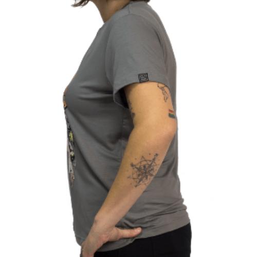 Camiseta Estampada Rock Feminina Cinza Cladar - Metallica
