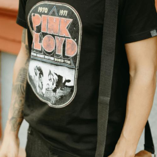 Camiseta Estampada Rock Masculina Preta Cladar - Pink Floyd