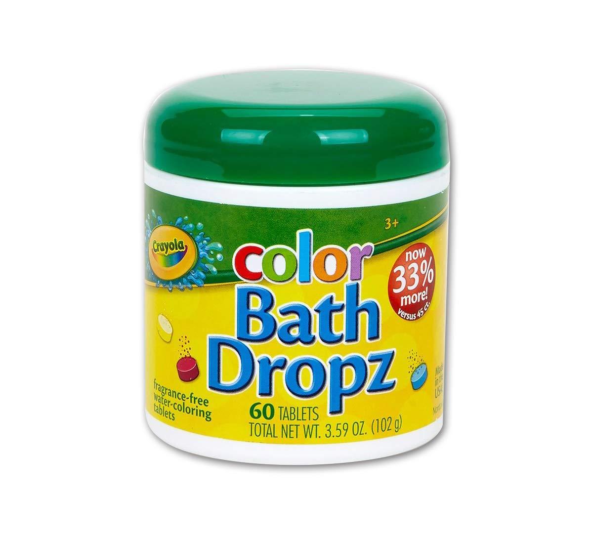 Crayola Bath Dropz Banho Colorido - 60 Tablets