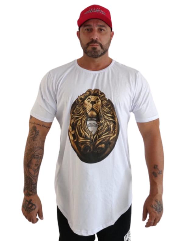 Camiseta Strong Leão Branca