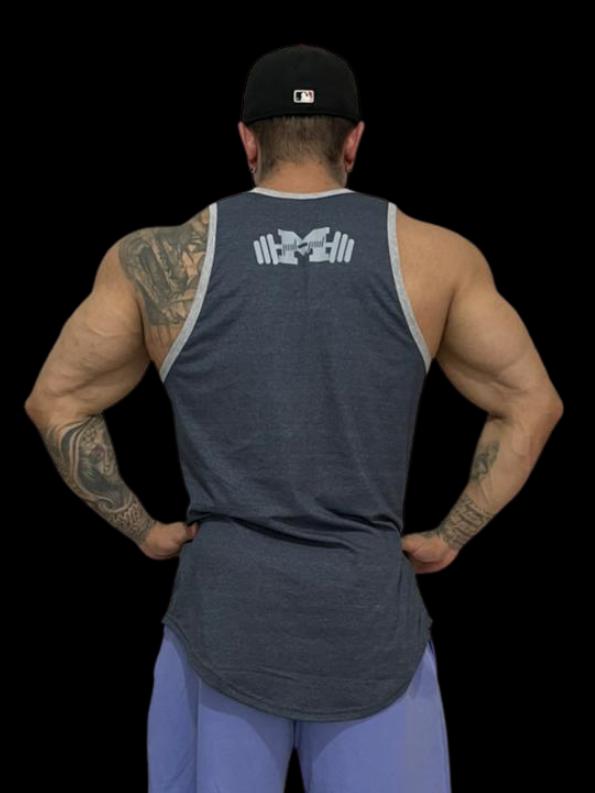 Regata Premium Muscle Cinza