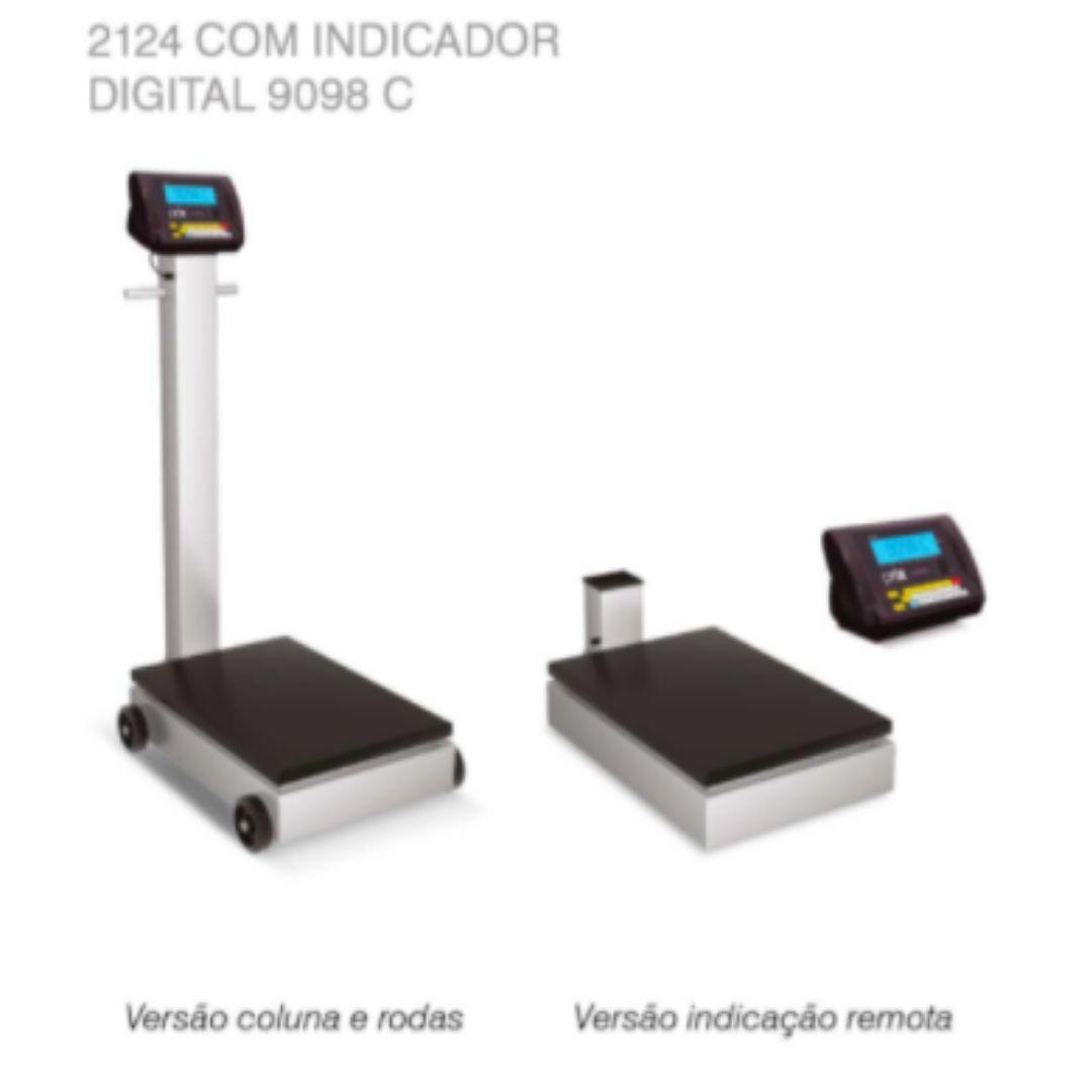 BALANÇA ELETRÔNICA TOLEDO BRASIL - PORTÁTIL 2124 C/ INDICADOR DIGITAL 9098C