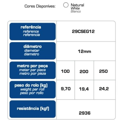 CORDA  MAZAFFERRO DE SEGURANÇA NYLON POLIAMIDA NR18