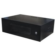 """Rack Organizador para CFTV Padrão 19"""" 3U x 350mm c/ Visor Acrílico"""