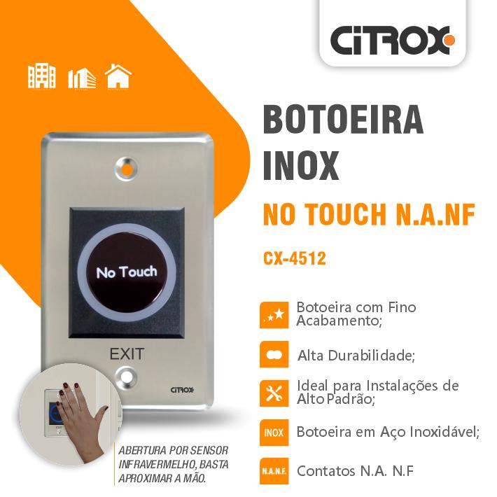 Botoeira De Aproximação Inox No-Touch N.A/N.F Cx-4512 Citrox
