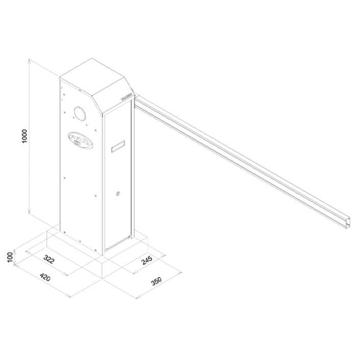 Cancela Eletrônica Automática Brasso Jetflex Universal PPA s/ Barreira
