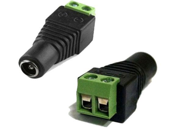 Conector de Energia Para CFTV P4 Fêmea de Borne
