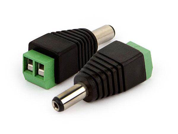 Conector de Energia Para CFTV P4 Macho de Borne