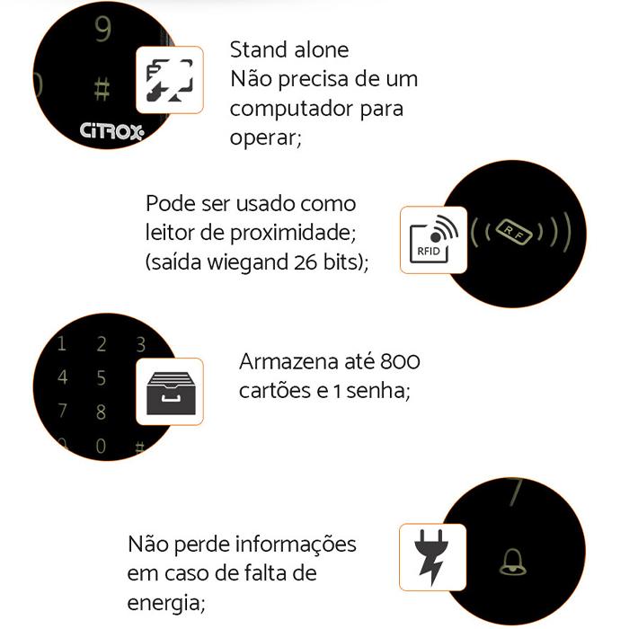 Controladora Acesso Touch | Leitor Touch  CX-7009