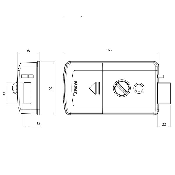 Fechadura Digital De Sobrepor Papaiz Smart Lock SL120