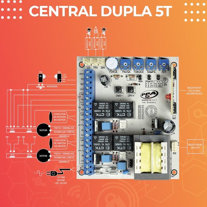 Kit Duplo Motor para Portão Pivotante Piston Condominio Analógico